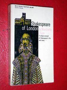 SHAKESPEARE OF LONDON- Marchette Chute- 1949-1st Edition