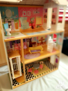 Barbie Doll House with Accessories.....& NEW Barbies