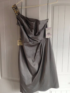 Silver/Grey Cocktail Dress - New with Tags