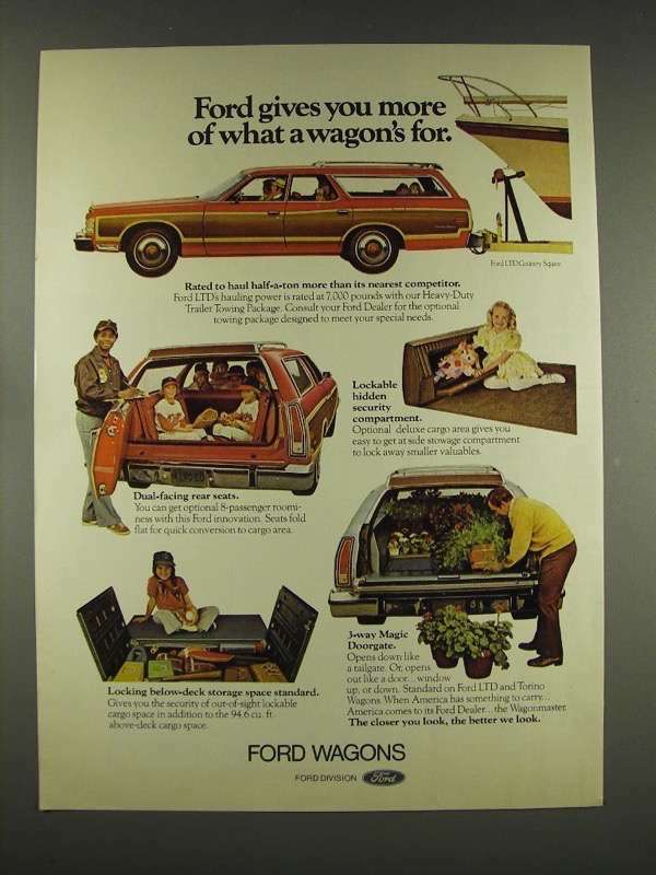 1976 Ford LTD Country Squire Wagon Ad