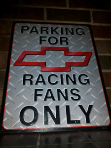 Chevy Racing parking  Sign