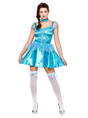 Ladies Ice Blue Snow Princess Cinderella Fairytale Storybook Fancy Dress (Ice Princess Fancy Dress Kostüm)