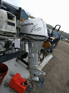Honda 15hp Tiller, Electric Start , 4 Stroke Outboard 20""