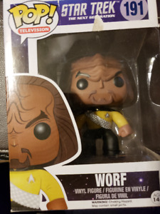 "FUNKO Pop Television #191 Worf  ""Star Trek Next Generation"""