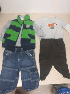 7 boy outfits winter size 6-9 months