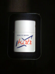 Brand new Zippo lighter, King of Beers, $26.