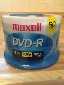 Maxell 8x DVD-R Media 50 Pack - never been opened