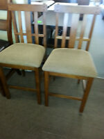New Pair Mission Style Barchairs