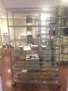 Commercial heavy duty stainless steel shelving units $100 each