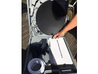 Free-view satellite set up