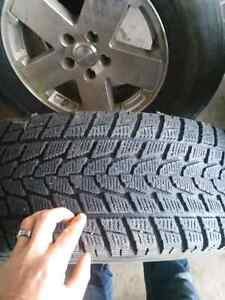Selling stock rims, 2 all season tires and 3 winter tires for je