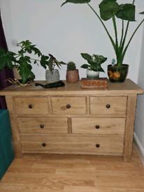 Real wood light oak Sideboard