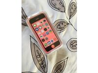 Refurbished. Never used. iPhone 5c Unlocked, 16GB, Pink.