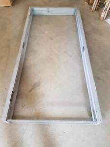 Steel door and frame