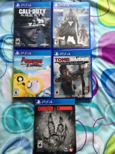 4 PS4 GAMES LEFT