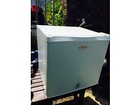Fridgemaster table top freezer, 45litre, 50cm . Good working condition , very slight dent in top