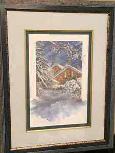 Stunning Winter scene painting by local Paris artist Kitchener / Waterloo Kitchener Area image 4