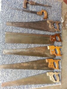Vintage Hand Saws,old Carpenters Set,with Homemade Tote