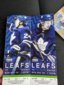 MAPLE LEAFS VS BOSTON BRUINS!!!!!!!
