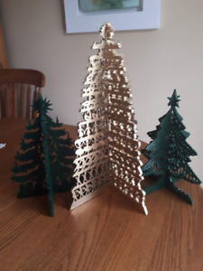 "Wood Christmas Trees - 11"" - Green (crafted by seller)"