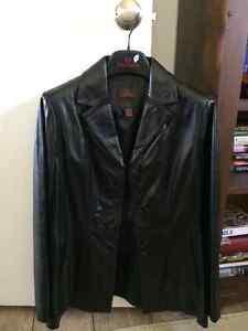 Danier Classic Black Leather Jacket