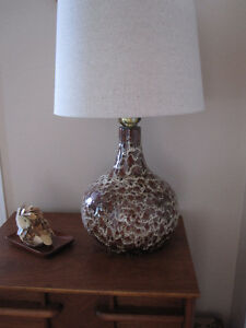Mid century retro ceramic lamp