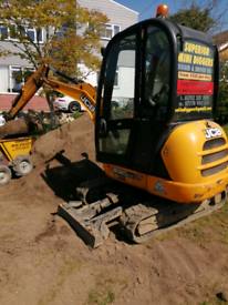 Mini digger 8020 rubber track
