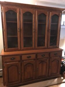 Solid wood buffet &  hutch