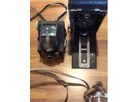 Vintage box cameras etc