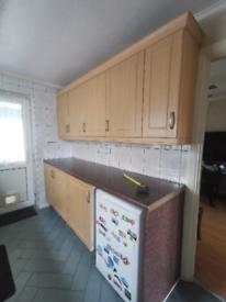 Kitchen units and worktop.
