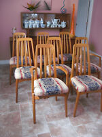 Set of 8 Mid Century Teak dining chairs Svegards Markaryd Sweden