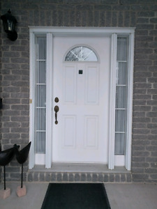 "36"" front door with side lites.  Great used condition."