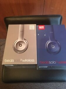 BEATS SOLO 2 WIRELESS SILVER NOUVEAU NEW AUTHENTIC!!!