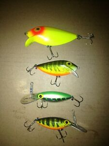 4 Original (pre-rapala) Storm fishing lures