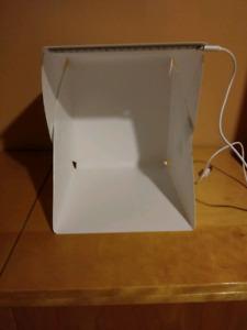 Boîte blanche pour photographie