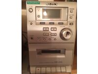 Sony CD, radio and cassette stereo. Rarely used - like new.