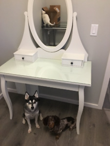 Dressing makeup table with mirror- sherwood park