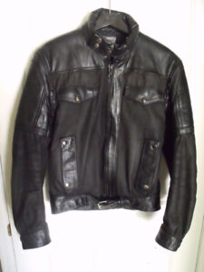 Leather and fabric jacket