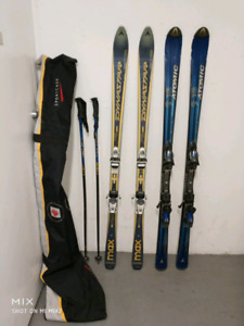 170cm Skis and 130cm poles