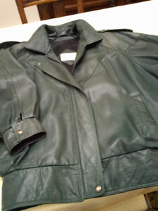 SOFT Leather Jacket (Woman's) Forest Green Colour