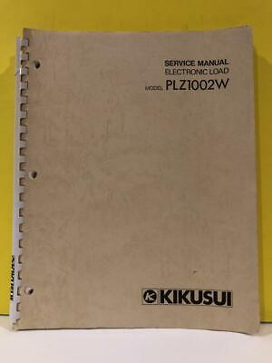 Kikusui Z1-707-571 Electronic Load Plz 1002w Service Manual