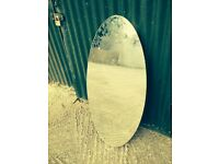 Old Vintage Oval mirror from Dressing Table