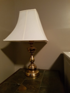 Matching old brass lamps