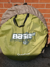 Quechua Base seconds 4.2 in very good used condition with ground sheet