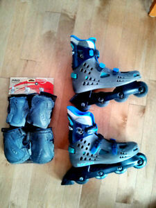 Rollerblades Homme, Taille 12 + Kit Protections NEUF