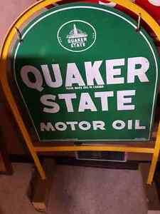 Quaker State tombstone sign Kitchener / Waterloo Kitchener Area image 1
