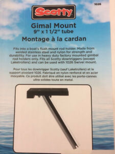 NEW Scotty Gimal down rigger mount boat