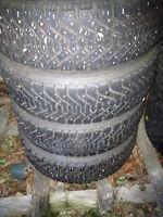 """4 185/65r x14"""" winter tires on 4 bolt Honda rims"""
