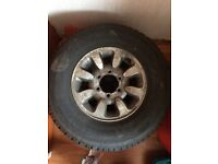 Alloy Wheels with tyres x2. 4x4.