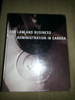 Law and business Adminstration in Canada Text Book *New sealed*